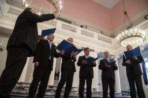 Nõo kiriku meesansambel. Foto: UTTV